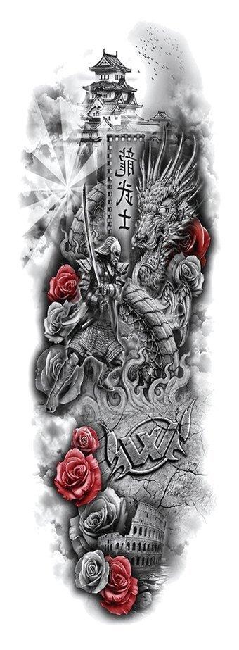 Dočasné tetování - Celá ruka FA-72