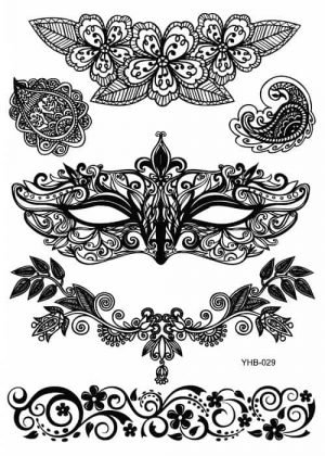 Dočasné tetování Henna YHB29